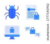 Cyber Security Icon Set   Virus ...