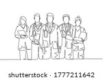 single continuous single line... | Shutterstock .eps vector #1777211642