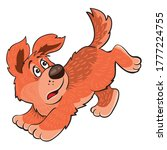 ginger dog running away from... | Shutterstock .eps vector #1777224755