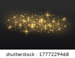 yellow dust. bokeh effect....   Shutterstock . vector #1777229468