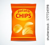 Potato Chips Bag Isolated On...