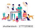 veterinary clinic medical... | Shutterstock .eps vector #1777255832