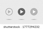 play video sign vector on... | Shutterstock .eps vector #1777294232