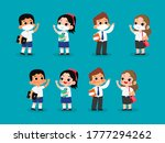 set of thai middle school and... | Shutterstock .eps vector #1777294262