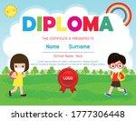 certificates for kindergarten...   Shutterstock .eps vector #1777306448
