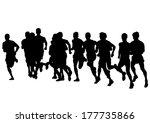 athletes sports men on running... | Shutterstock . vector #177735866