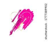 golden and pink brush strokes... | Shutterstock .eps vector #1777389902
