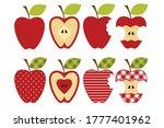 set of diverse apple... | Shutterstock .eps vector #1777401962