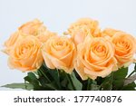 Peach Colored Bouquet Of Roses...