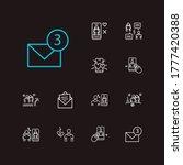 network icons set. swipe left...