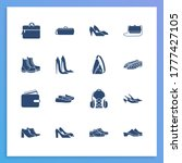 fashion icon set and duffel bag ...