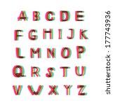 felt tip pen alphabet set | Shutterstock .eps vector #177743936