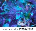 liquid marble texture. fluid... | Shutterstock .eps vector #1777442132