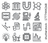 science physics icons set on... | Shutterstock .eps vector #1777444268