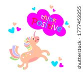 cute baby unicorn with funny... | Shutterstock . vector #1777453355