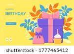 gift and cupcake concept flyer  ...