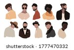 set of abstract man portraits... | Shutterstock .eps vector #1777470332