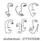 set of abstract human faces one ...   Shutterstock .eps vector #1777470338