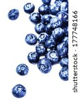 fresh blueberries isolated on... | Shutterstock . vector #177748166