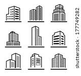 buildings icons | Shutterstock .eps vector #177749282