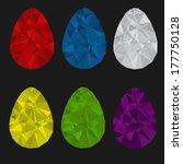 set of easter diamond eggs   Shutterstock .eps vector #177750128