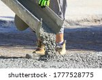 Pouring Wet Concrete While...