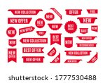 collection of red promo badges... | Shutterstock .eps vector #1777530488