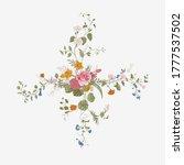 vintage floral vector element.... | Shutterstock .eps vector #1777537502