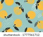 fresh citrus fruit tropical... | Shutterstock .eps vector #1777561712