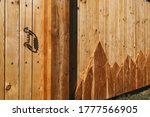 Wooden Gate In Mountain Rustic...