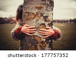 Young Woman Is In The Park On ...