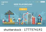 kids playground website  flyer  ...