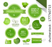 natural product green labels  ... | Shutterstock .eps vector #177760715