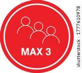 maximum 3 people sign vector ...   Shutterstock .eps vector #1777610978