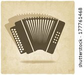 accordion old background   ...   Shutterstock . vector #177761468