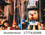 Colorful Wooden Pinocchio Doll...