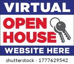 virtual open house sign... | Shutterstock .eps vector #1777629542