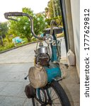 Old Electric Bicycle Inside The ...