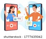 man   woman lovers couple... | Shutterstock .eps vector #1777635062