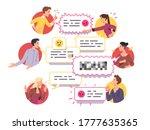 angry men   women friends... | Shutterstock .eps vector #1777635365