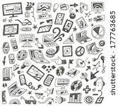 devices   computers   doodles... | Shutterstock .eps vector #177763685