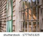 Old Window On A Barn