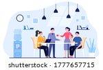 office people drinking coffee... | Shutterstock .eps vector #1777657715