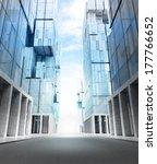 empty new modern business city... | Shutterstock . vector #177766652
