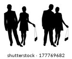 man and woman. couple of young... | Shutterstock . vector #177769682