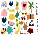ontemporary big set hand drawn ... | Shutterstock .eps vector #1777698518