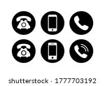 phone and mobile phone icon... | Shutterstock .eps vector #1777703192