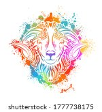 zodiac signs   aries colored .... | Shutterstock .eps vector #1777738175