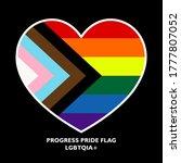 vector rainbow progress pride...   Shutterstock .eps vector #1777807052
