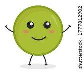cute flat cartoon green peas... | Shutterstock .eps vector #1777812902